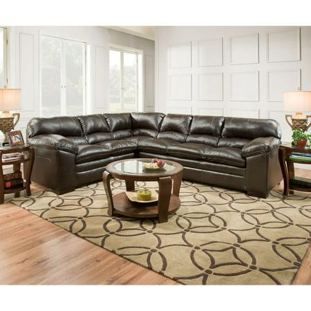 Simmons Upholstery Bingo Brown Sectional Sofa