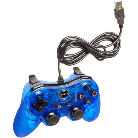 Playstation 3 Wired Controller - TTX PS3 Wired USB Controller - Blue - PlayStation 3