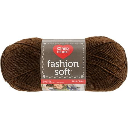 Red Heart Fashion Soft Yarn-Chocolate - image 1 of 1