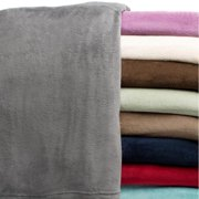 All Seasons Solid Microplush Blanket Twin - Crimson