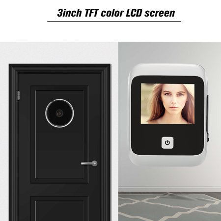 3.0 inch TFT LCD Visible Digital Door Doorbell 120 Degree Viewing Angle Peephole Viewer Door Eye Doorbell Stealth Camera Integrated Battery Storehouse(Batteries are not included) for Home - image 5 of 7