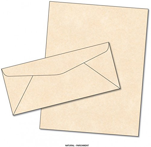 Parchment Matching Paper & Envelopes - Color: Natural - 50 Sets