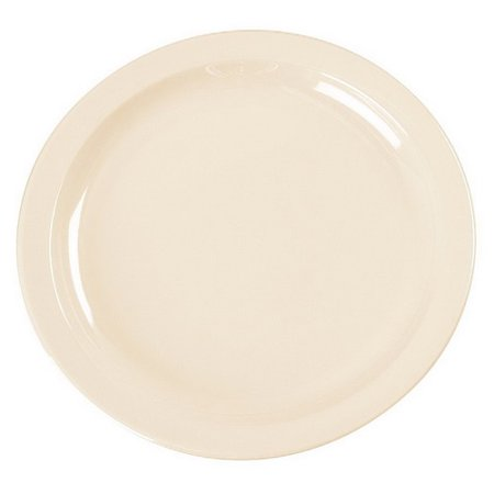 "Carlisle Kingline Melamine Round Narrow Rim Pie Plate Tan, 6.44"" Diameter x 0.625"" Height 