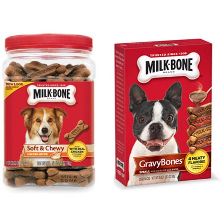 Milk-Bone Soft and Chewy Chicken Snacks and GravyBones Dog Biscuits Value Bundle