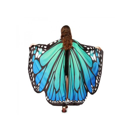 MarinaVida Butterfly Wings Fairy Costume Adult Outdoor Nymph Shawl Scarf Fancy Dress