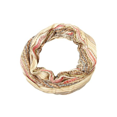 Collection Eighteen Women's Sequined Woven Fringe Infinity Scarf (OS, Rose Dust) (Woven Fringe Scarf)