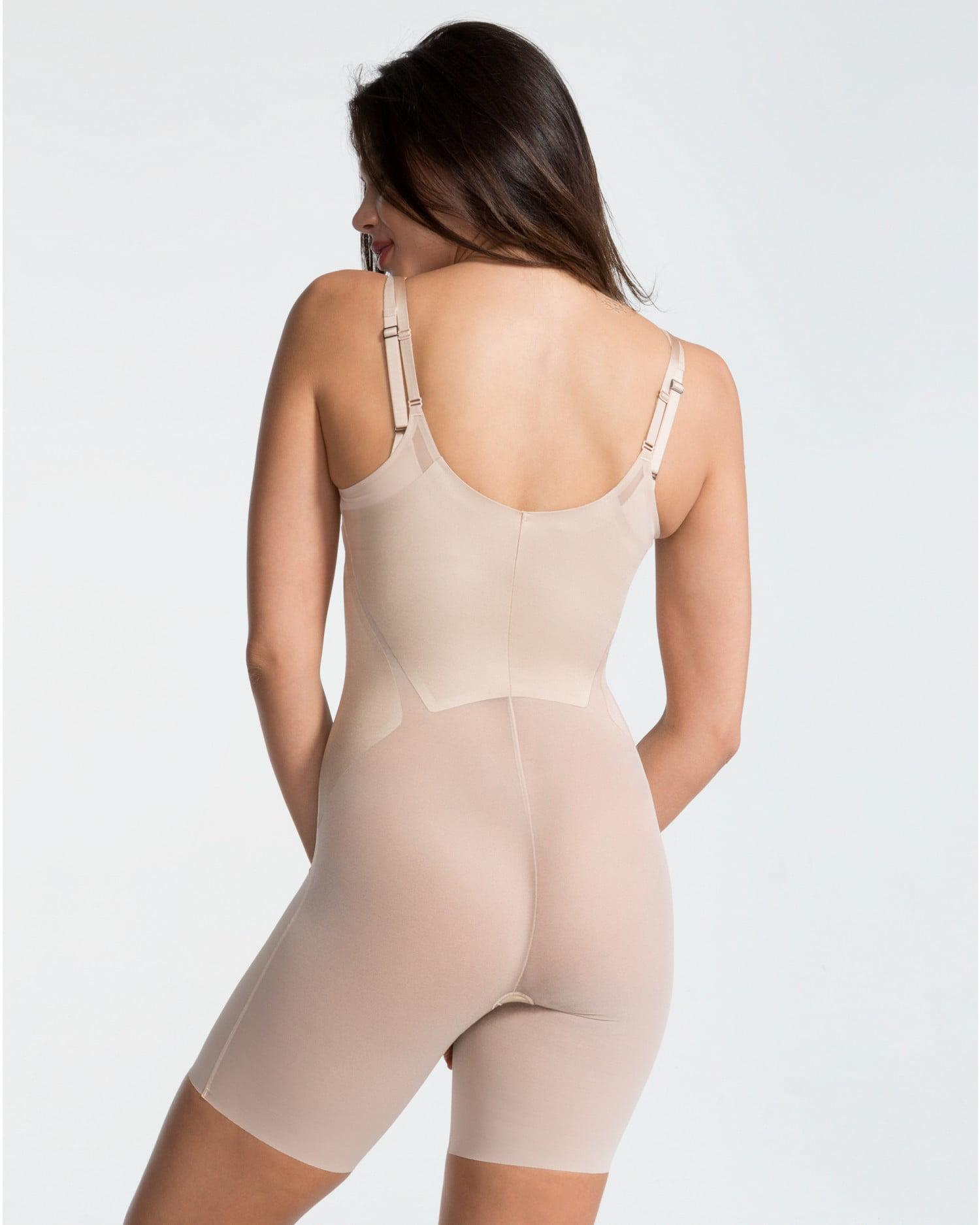 b23aecdc61ca9 Spanx - Spanx FS6815 Haute Contour Open-Bust Mid-Thigh Bodysuit Nude  X-Large - Walmart.com