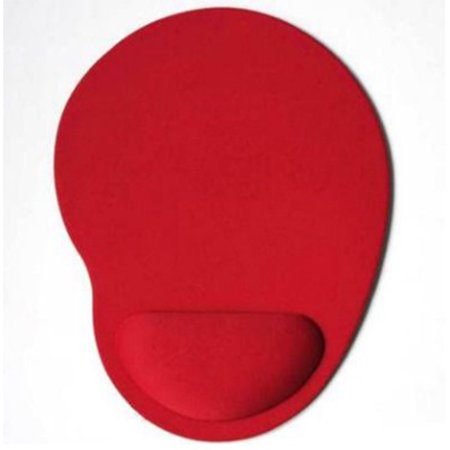 Anti Slip Wrist Rest Support Mousepad Gaming Desktop Mouse Pad Wrist Rest red Solid