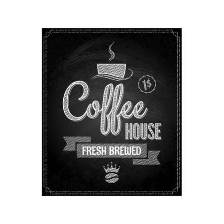 coffee menu design chalkboard background print by pushkarevskyy