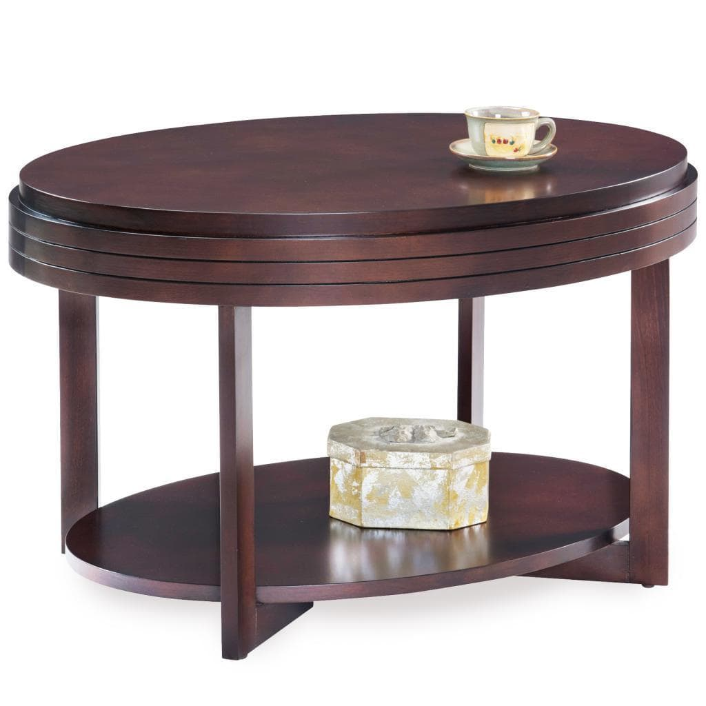 KD Furnishings Oval Apartment Coffee Table