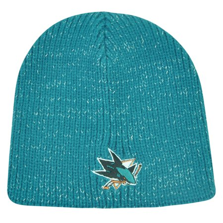 Hockey Beanie (NHL San Jose Sharks Sookie Womens Cuffless Knit Beanie Toque Hat Hockey Winter)