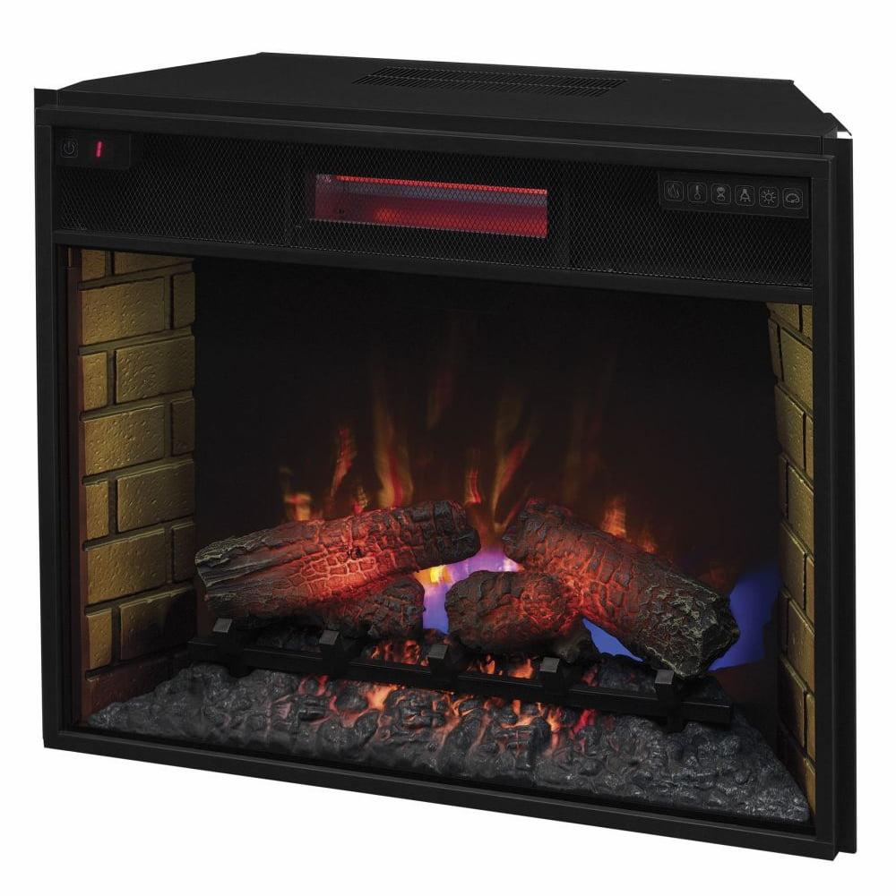 Tri-Fold Fireplace Screen w Doors & Black Finish - Walmart.com