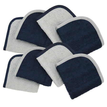 American Baby Company Terry Washcloths made with Organic Cotton, Navy, 8 Pack