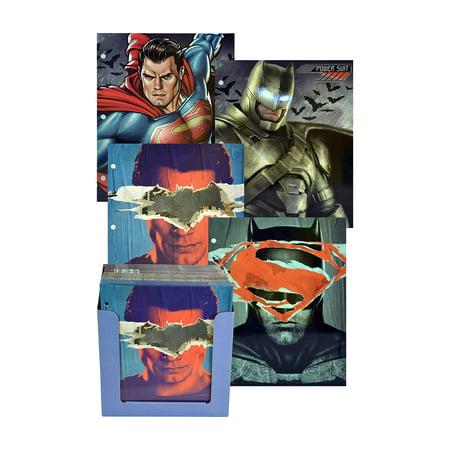 Novelty Character School Supplies DC Comics Batman V Superman Paper Portfolio Folders, Colors May Vary (2pc (Steel Clip Folder)