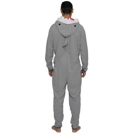 MJC International Men's Shark Cos Play One Piece Pajama Union Suit - image 1 de 4