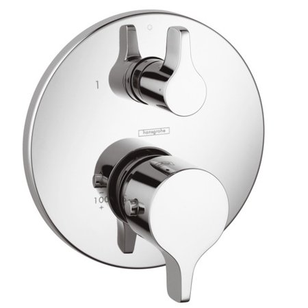 Hansgrohe Thermostatic Volume Control and Diverter Faucet Trim with Lever (Handle Thermostatic Control)