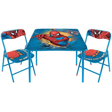 marvel comics spiderman table and chairs set. Black Bedroom Furniture Sets. Home Design Ideas