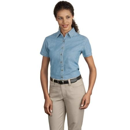 - Port & Company - Ladies Short Sleeve Value Denim Shirt