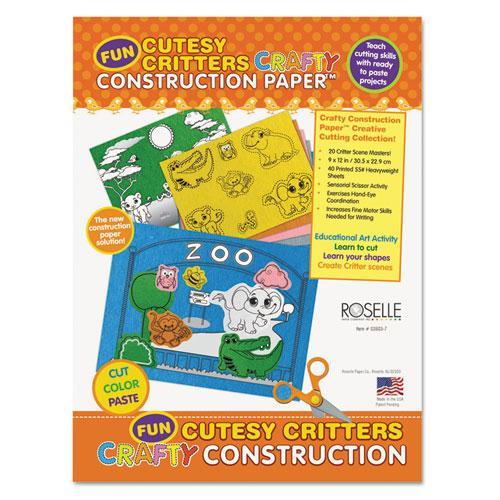 "Roselle Crafty Printed Construction Paper, 9"" x 12"", 40 Shts/Pad"
