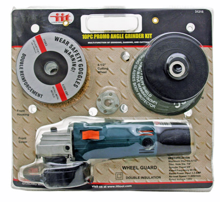 "10-pc. 4-1 2"" Angle Grinder Kit by Illinois Industrial Tool"
