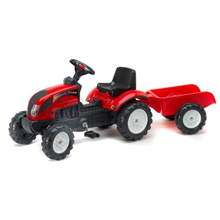 - Falk FA2051AC Ranch Tractor & Trailer, Red - Age 2 Plus Year