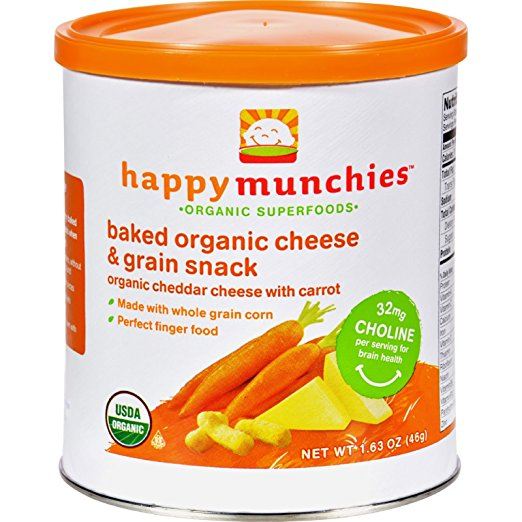 Happy Baby Happy Munchies Baked Organic Snacks Cheddar Ch...
