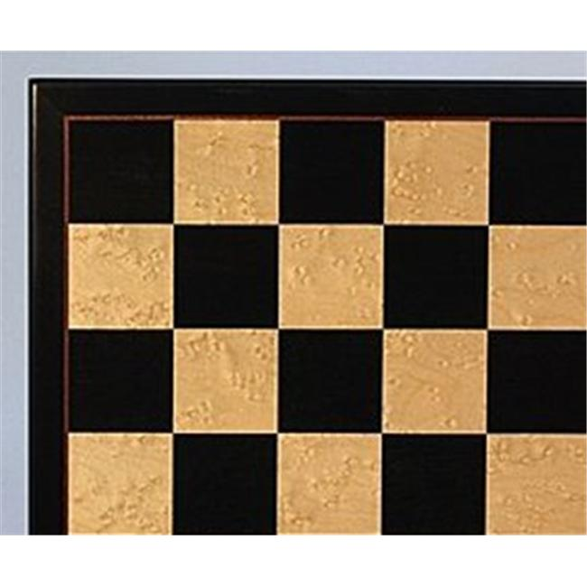WW Chess 50440BBM Maple Veneer Board - Black and Birdseye