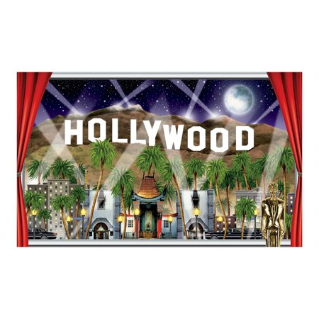 Hollywood Theme Party Decorations (Pack of 6 Hollywood Award Night Life Party Theme Wall Decoration)