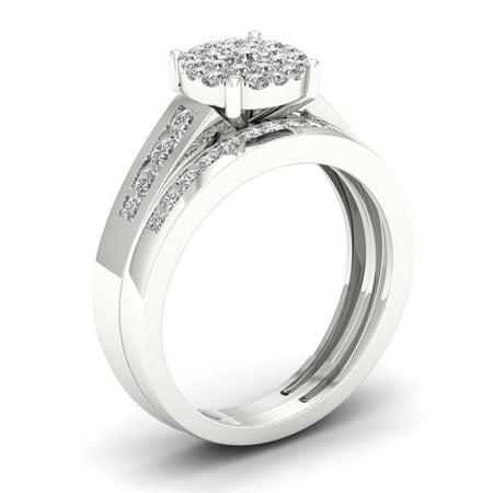 Diamond2deal 10k Gold 0 75cttw Diamond Halo Engagement Bridal