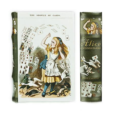Alice in Wonderland Book Box Handcrafted Art Keepsake Kids Secret Storage Book