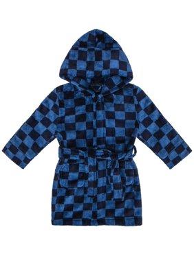Race Car Checkered Robe (Toddler Boys)