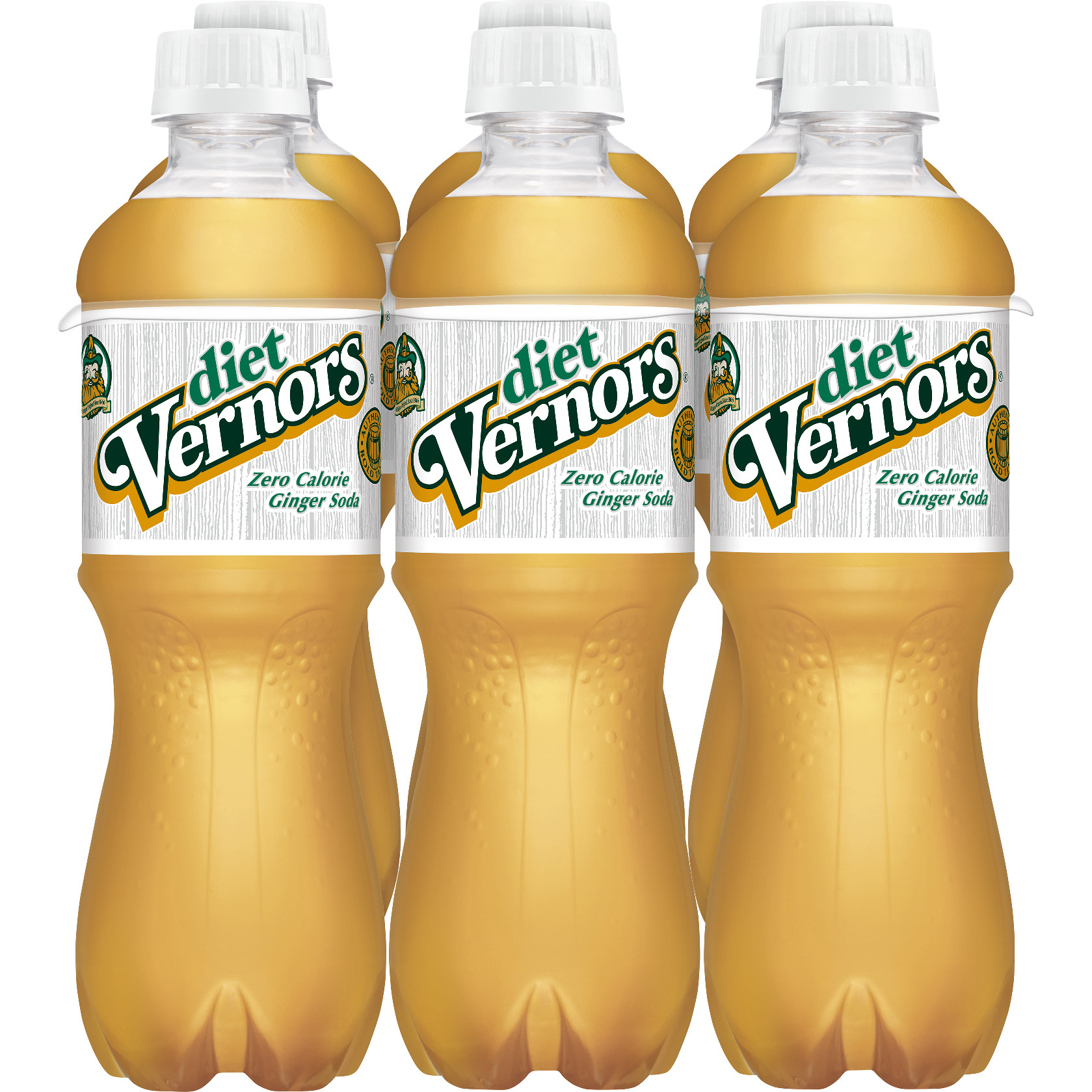 Diet Vernors Ginger Soda, 0.5 L, 6 pack