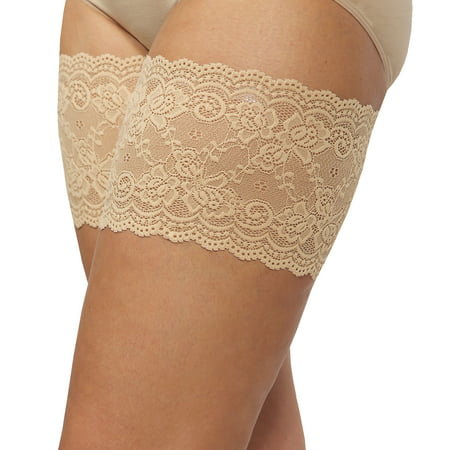 Bandelettes Thigh Bands-Beige Onyx D - White Thigh High Tights