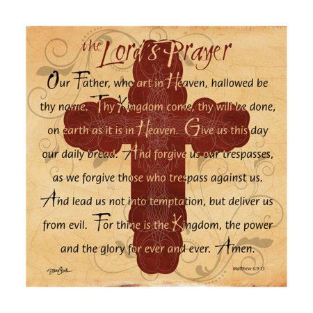 The Lords Prayer Cross Print Wall Art By Diane - Printed Cross