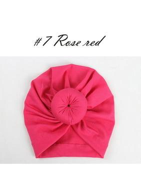 SUNSIOM Kids Baby Girl Turban Flower Head Wrap Adjustable India Hat Cotton Cap
