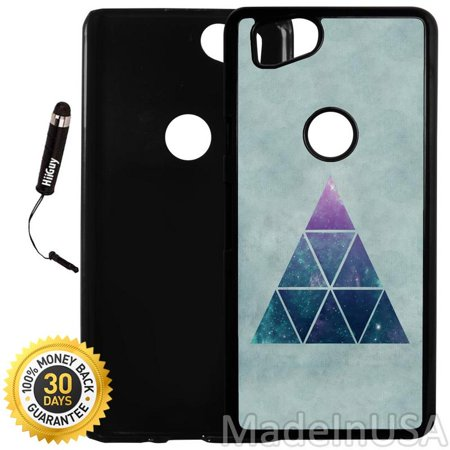 Cool Triangle - Custom Google Pixel 2 Case (Cool Hipster Triangle Blue) Plastic Black Cover Ultra Slim | Lightweight | Includes Stylus Pen by Innosub