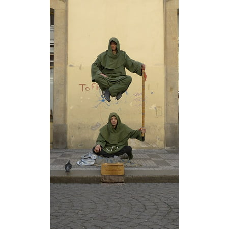- Canvas Print Street Performers Prague Magic Magician Stretched Canvas 10 x 14