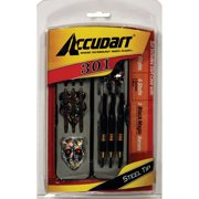 Accudart 301 Steel Tip Dart Set Includes Flights, Shafts, Black Magic Barrels, and Dart Case