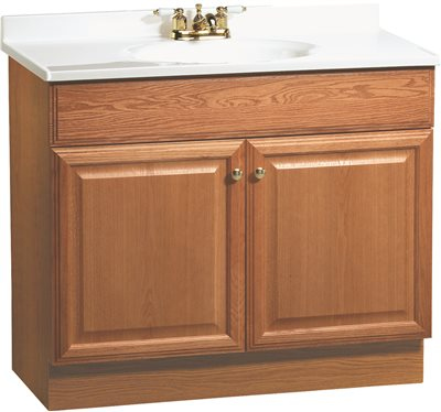 Rsi Home Products Richmond Bathroom Vanity Cabinet With Top, Fully Assembled, 2 Door, Oak Finish, 36 X 31X 18 In. - 270123