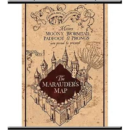- NECA Harry Potter Marauder's Map Wall Scroll