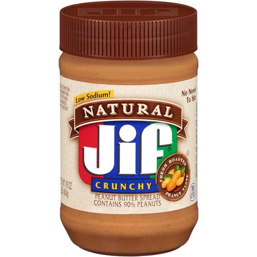 Jif Natural Crunchy Peanut Butter, 16 oz