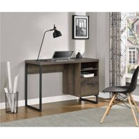 Deals on Ameriwood Home Candon Desk, Distressed Brown Oak