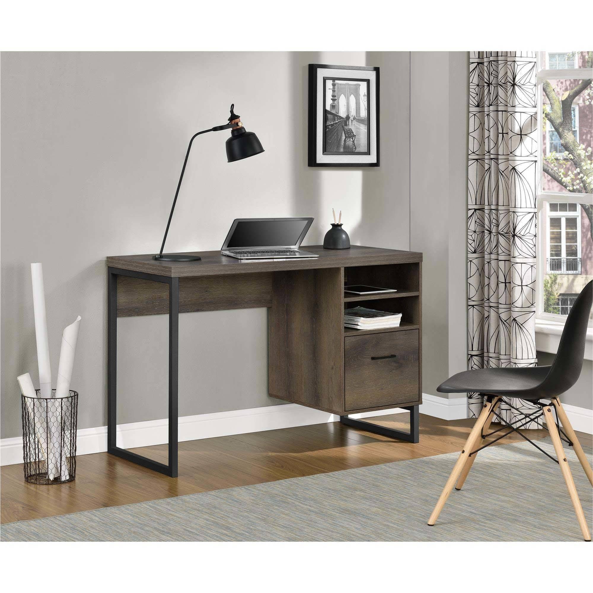 Ameriwood Home Candon Desk, Distressed Brown Oak