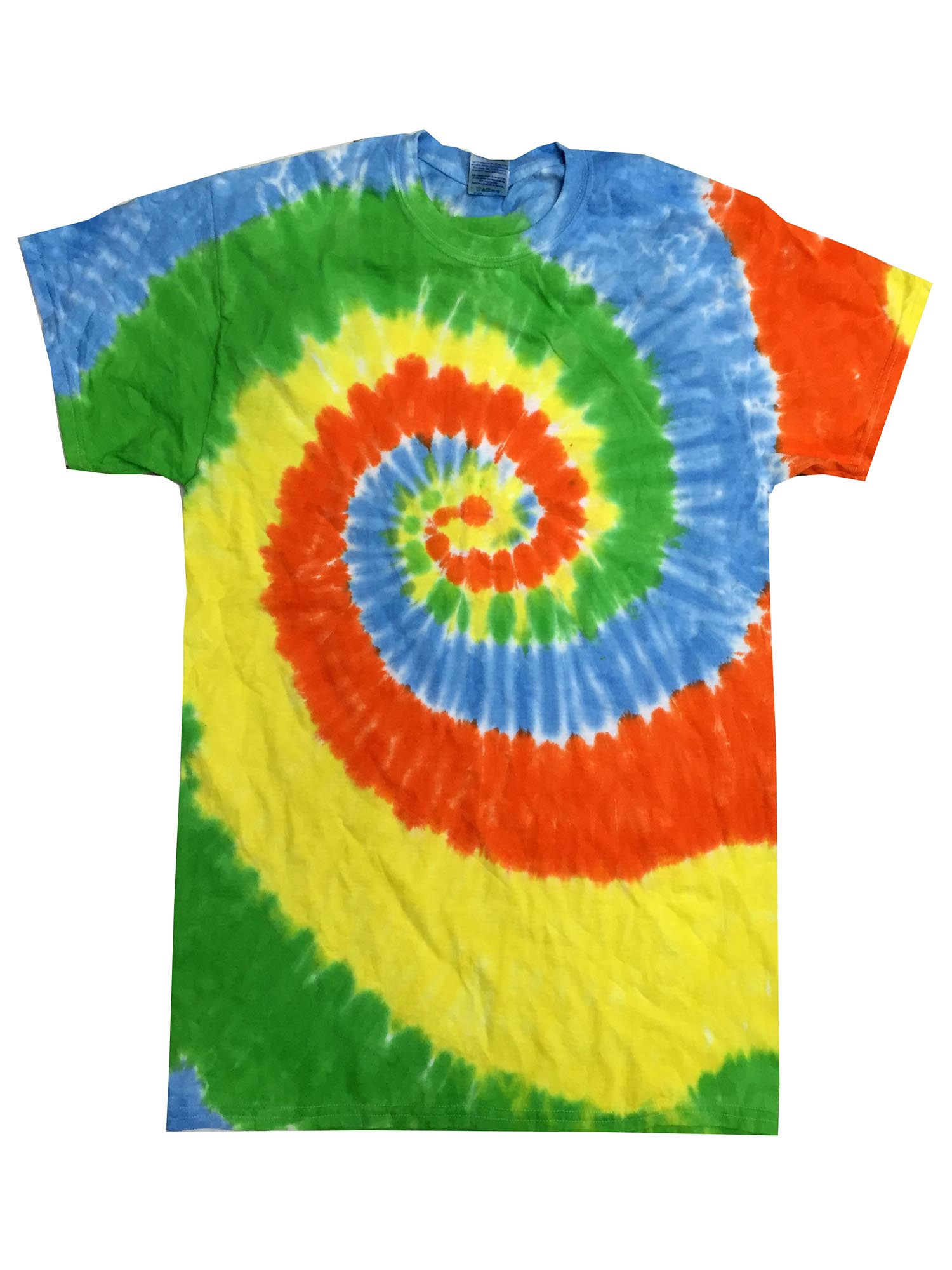 Colortone Childrens Unisex Tie Dye Short Sleeve Cotton T-Shirt RW2624