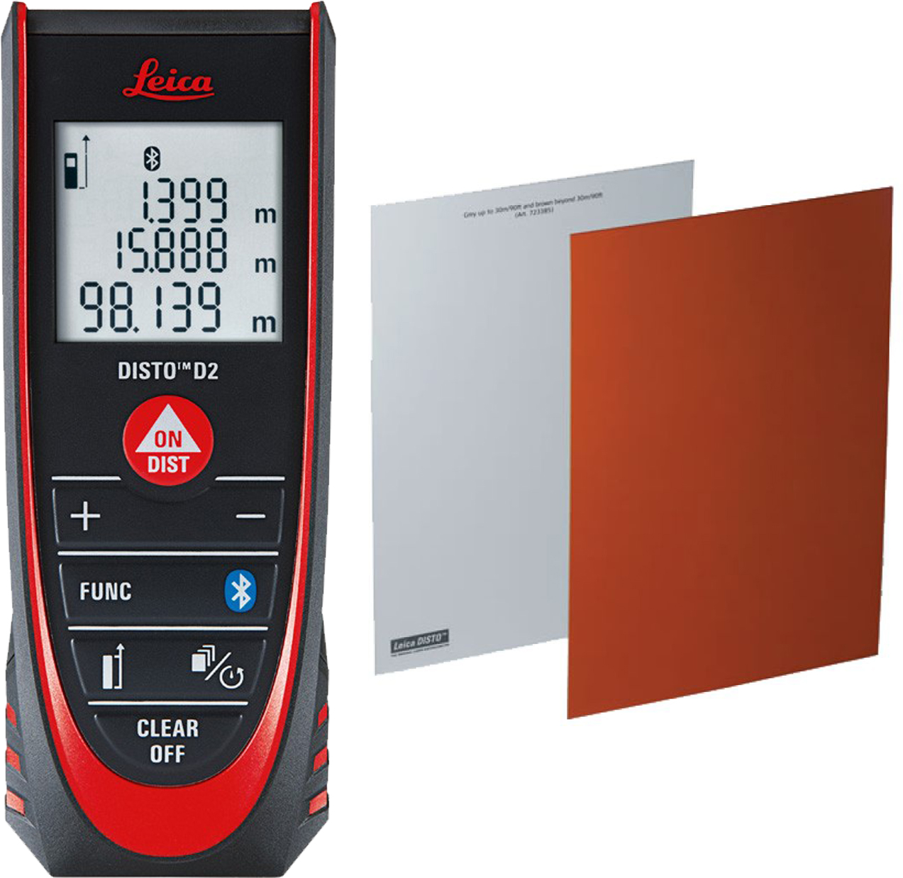 Leica DISTO D2 Laser Distance Meter with Bluetooth + GZM26 Target Plate