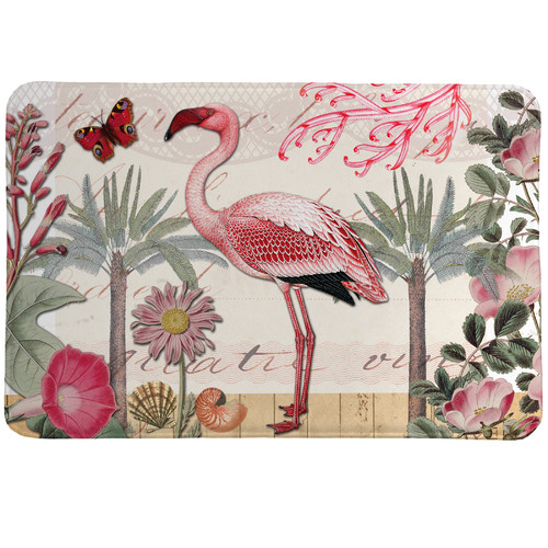 Laural Home Botanical Flamingo Mat