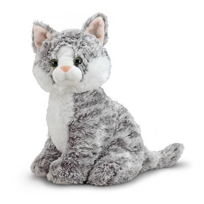 Melissa Doug Greycie Tabby Cat Stuffed Animal Walmart Com