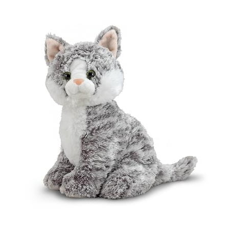 Melissa & Doug Greycie Tabby Cat Stuffed Animal - Stuffed Animal Pigs