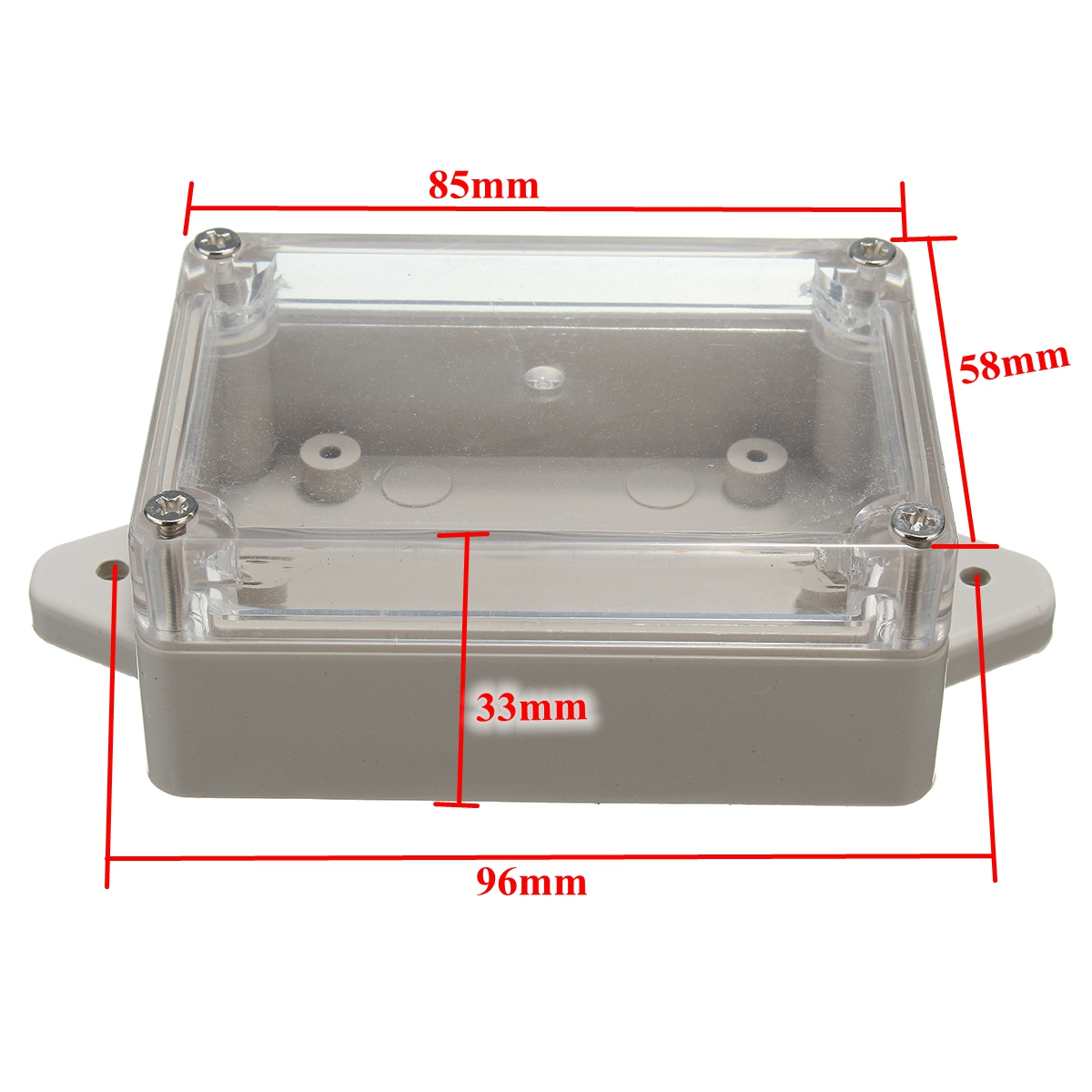 85*58*33mm Waterproof Plastic Electronic Project Cover Box Enclosure Case US