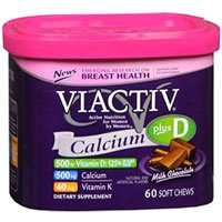 Viactiv Calcium Choc Chew Size 60ct Viactiv Calcium Chocolate Chew 60ct